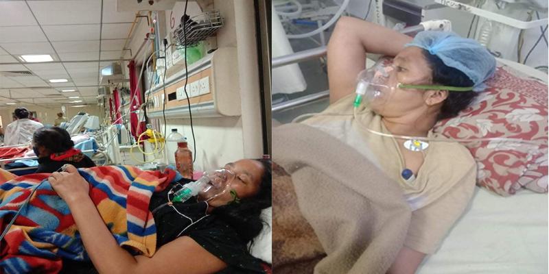 आर्थिक अभावमा  भारतीय अस्पतालमा छटपटाउदै सल्यानकी तिला
